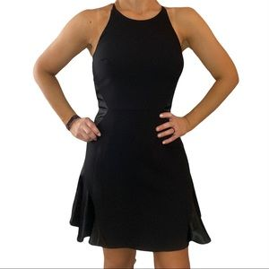 1.State Black Halter Dress with Silky Inserts Sm